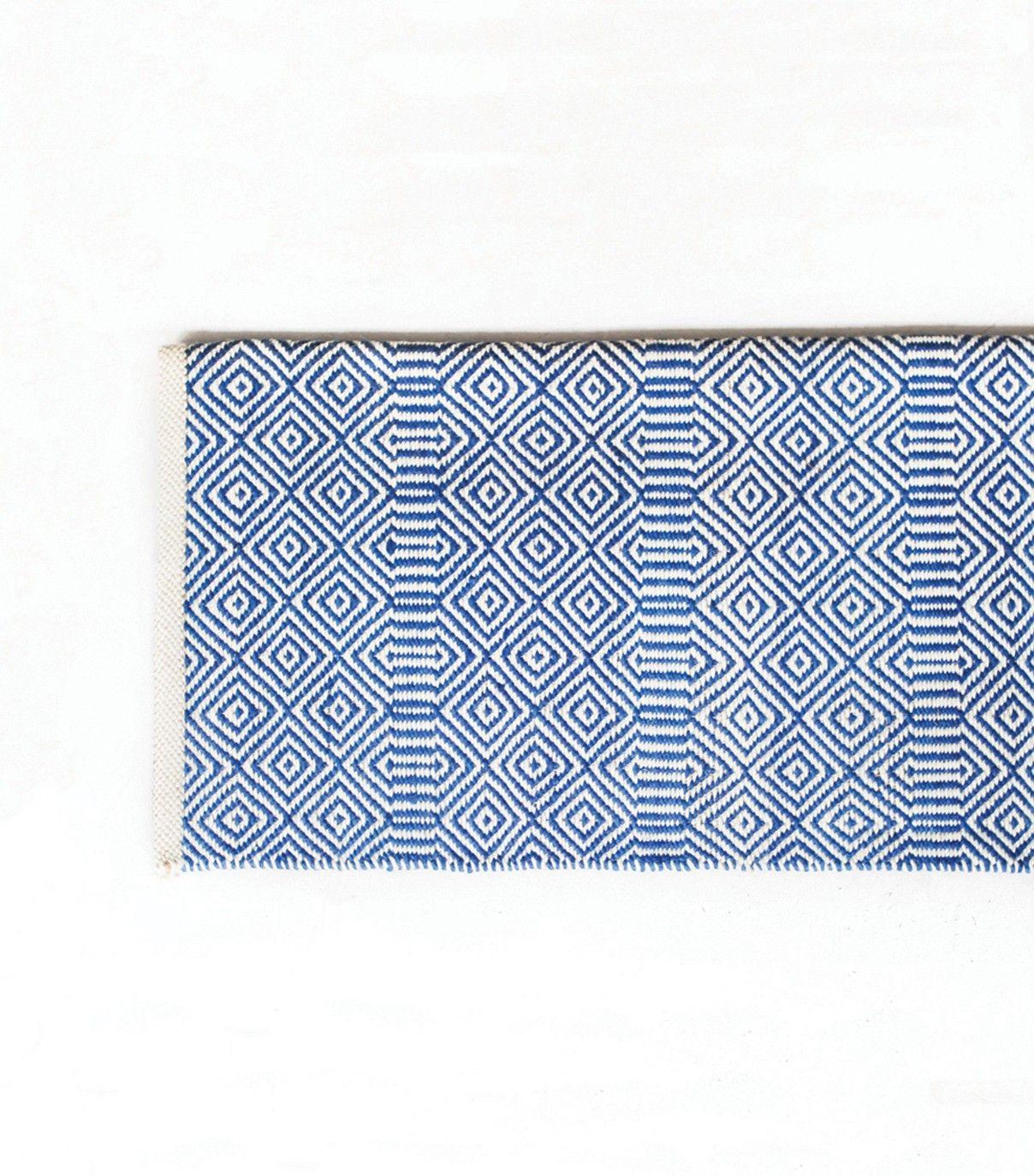 Tapis ethnique bleu et blanc 42x42 cm | Tapis | Pinterest ... - Tapis Laine Blanc