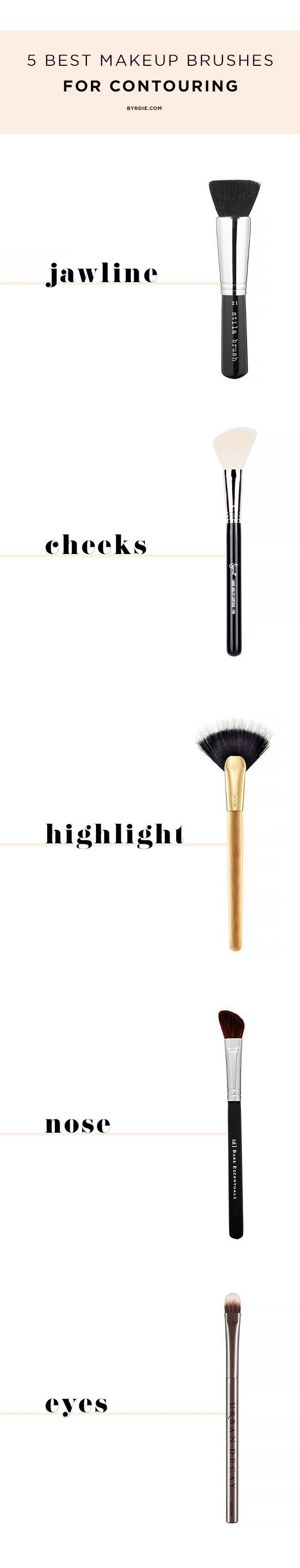 The 5 Best Makeup Brushes For Contouring Best Makeup Brushes Essential Makeup Brushes Best Makeup Products
