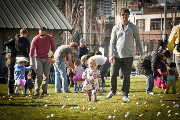 More Than 1 Million Children Descended Upon Capitol Hill S Cal Anderson Park Saturday Afternoon For An Egg Hunt Of Epic Pro Capitol Hill Seattle Egg Hunt Pics