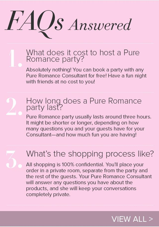 Pure Romance Host A Party In June And Receive An Extra Hostess