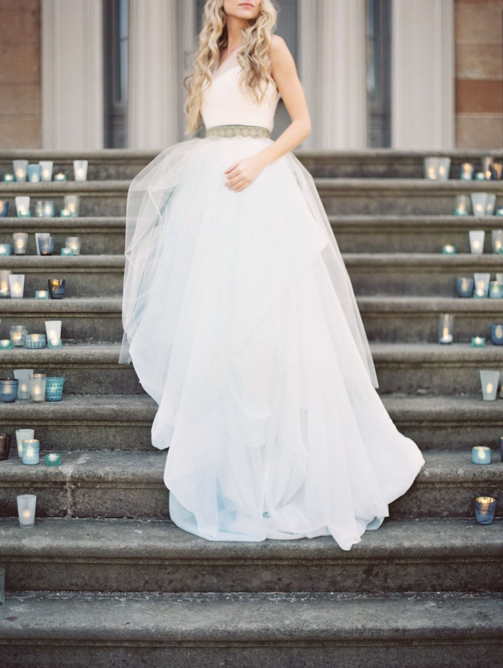 Dreamy mint blue gown photography when he found her