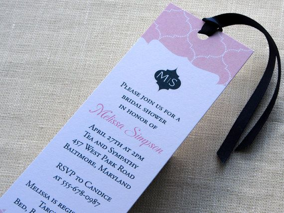 bridal shower bookmark invitation moroccan baby by imbueyouido