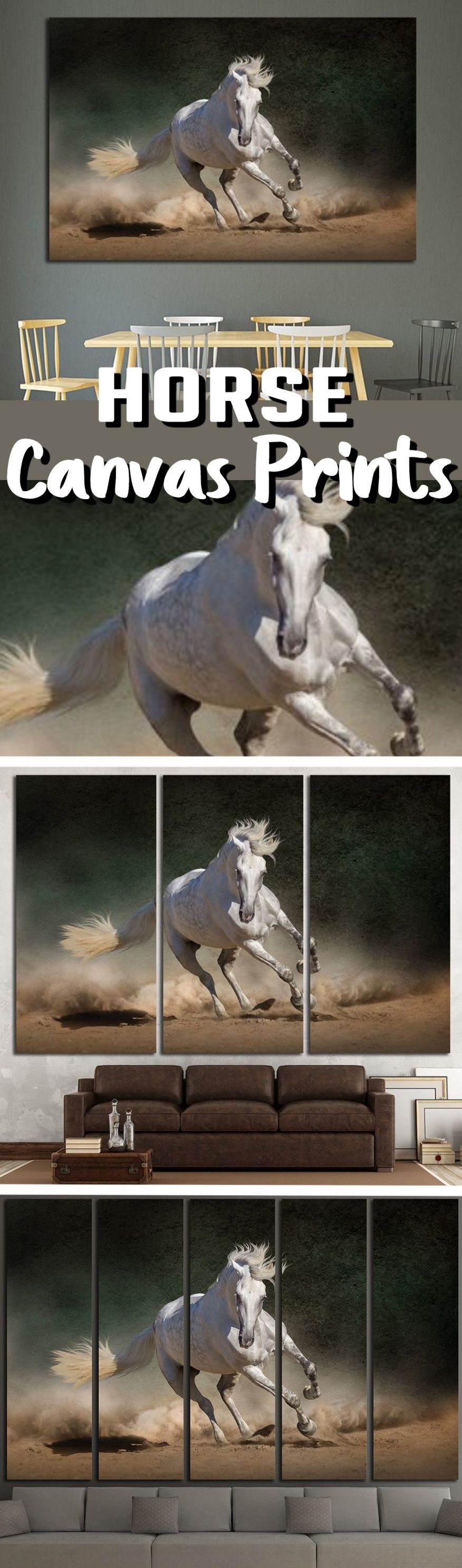 Beautiful horse wall art for home u office wall decoration