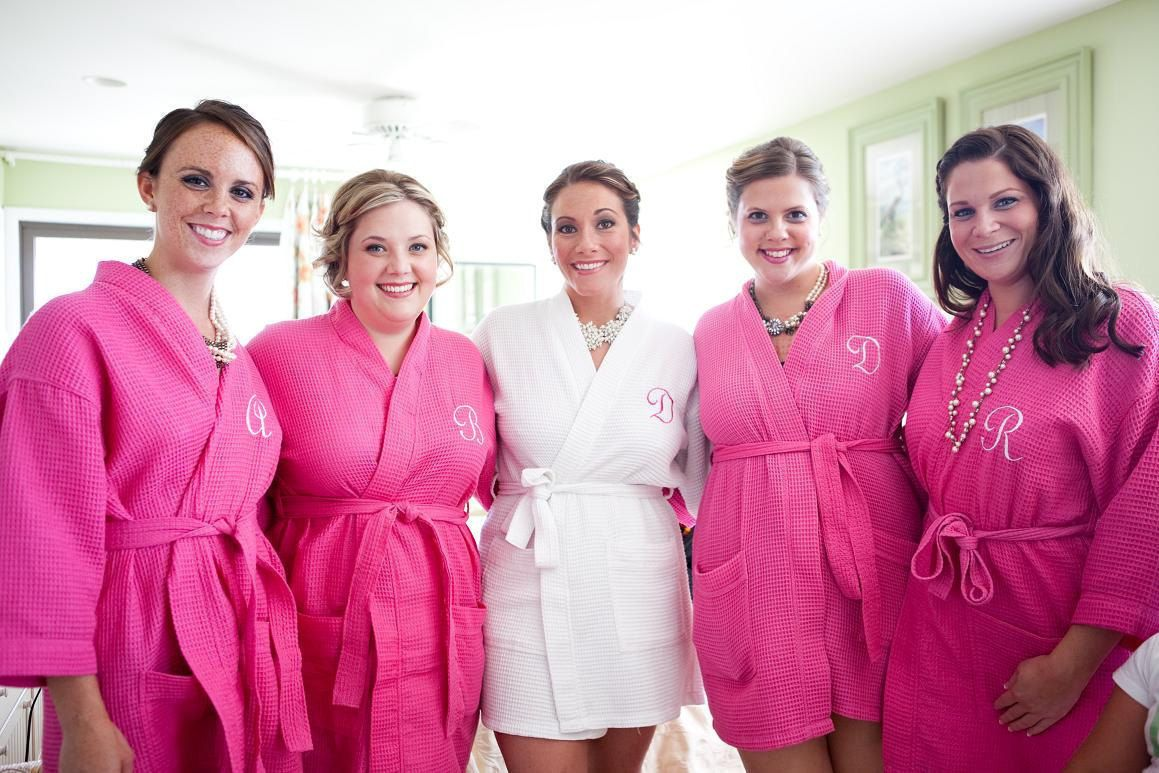 5 Spa robes personalized Bridesmaid Gift Wedding Party Monogrammed ...