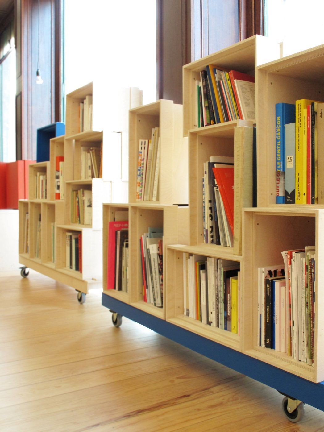 Wheeled Bookshelf Modules