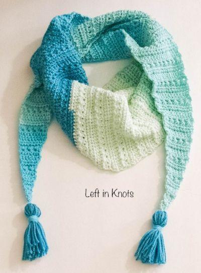 Snow Drops Mod Scarf A Free Crochet Pattern Free Crochet