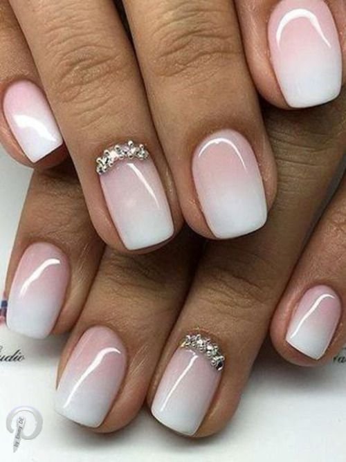 I love this look but better on longer nails and I like the natural ...