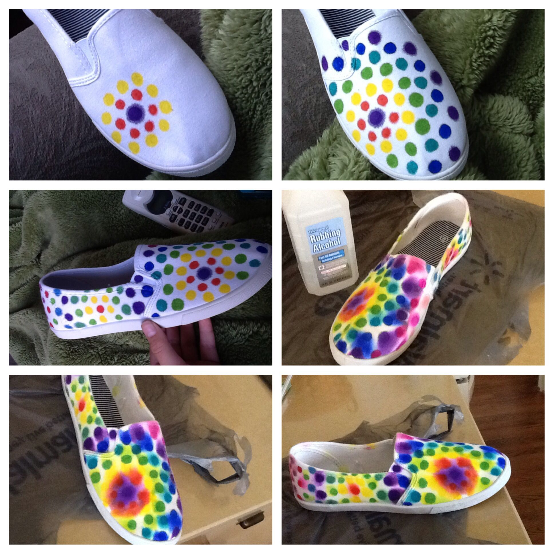 0a43c3e2a10d DIY sharpie and rubbing alcohol shoes 1) draw on shoes with sharpies 2) use  a dropper with rubbing alcohol and drop on shoes 3) wait to dry