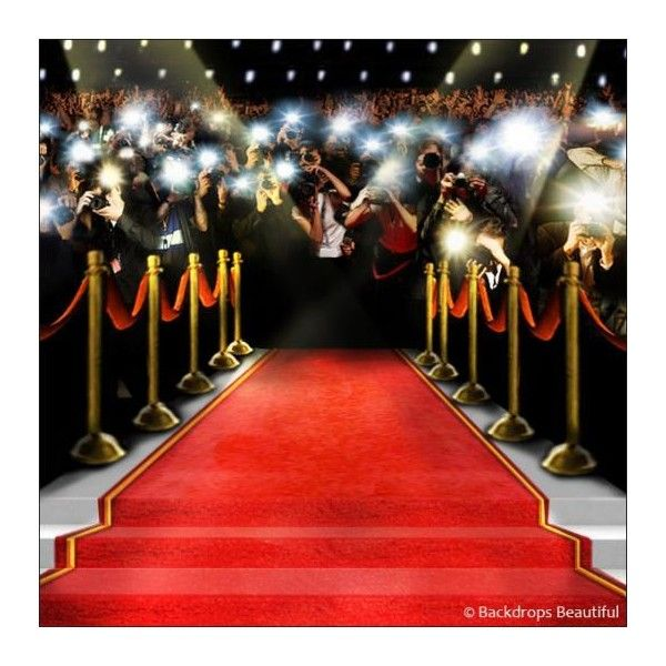 Paparazzi Celebrity Backdrop 5a Backdrops Beautiful Liked On Polyvore Featuring Backgrounds Red Hollywood Party Theme Red Carpet Theme Party Prom Themes