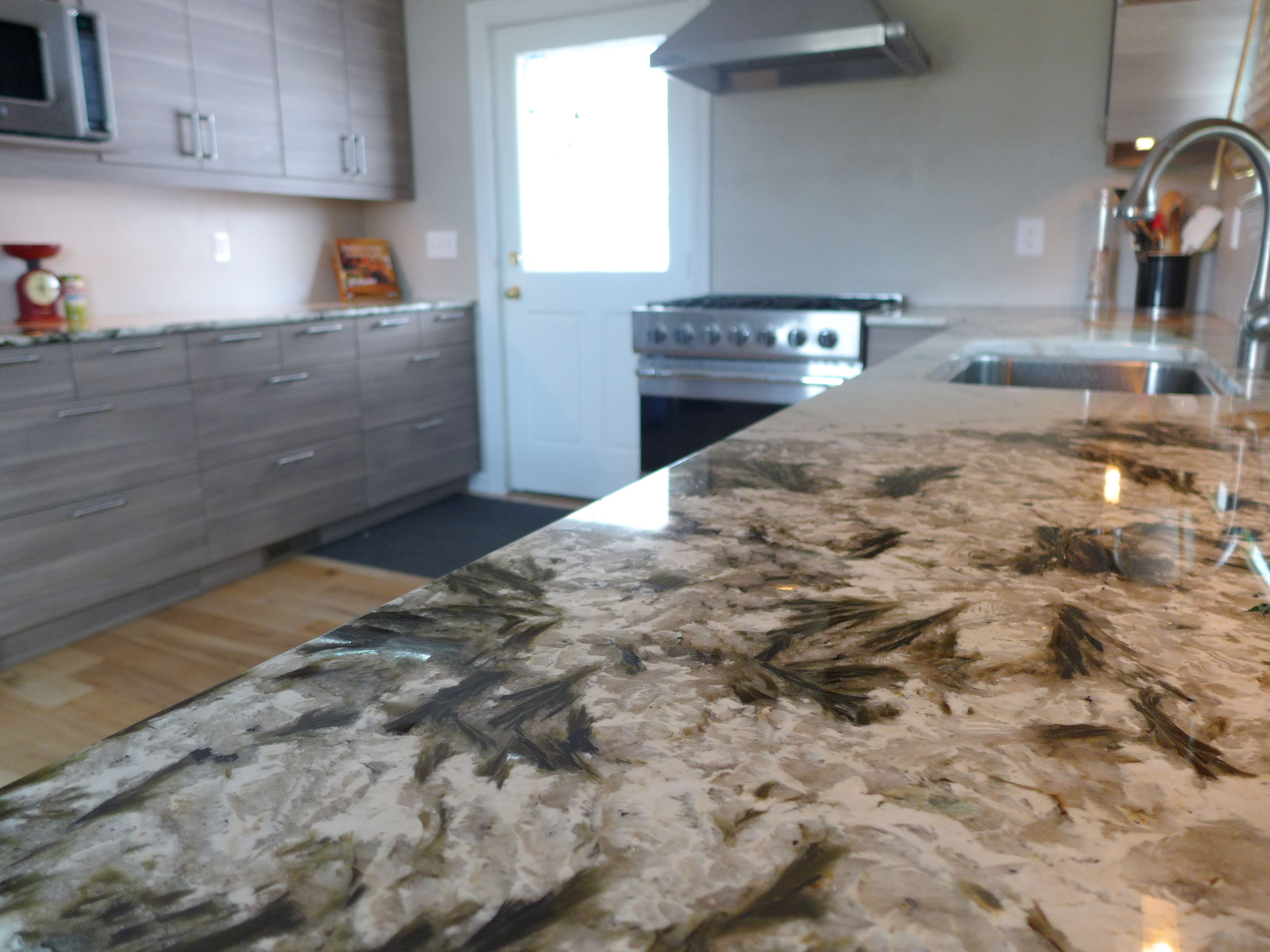 Pin By Accent Countertops On Kitchens By Accent Interiors White Granite Countertops Rustic Kitchen Granite Countertops