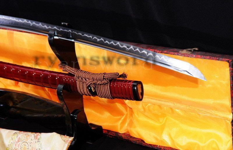 HIGH QUALITY 1095 HIGH CARBON STEEL CLAY TEMPERED JAPANESE SAMURAI KATANA SWORD