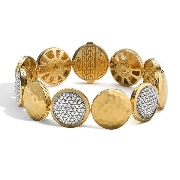 John Hardy Palu Gold & Diamond Bracelet boldgold trends fashion