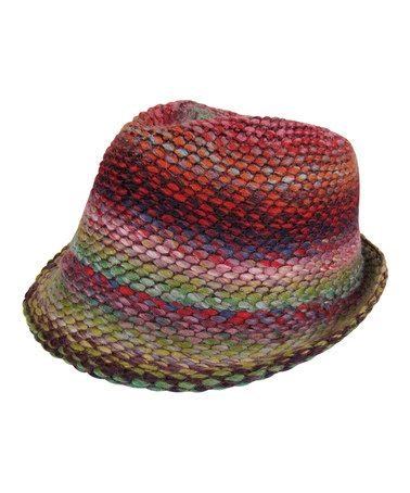 c3be63734c4 Look at this Red   Green Marled Wool-Blend Fedora by Dynamic Asia
