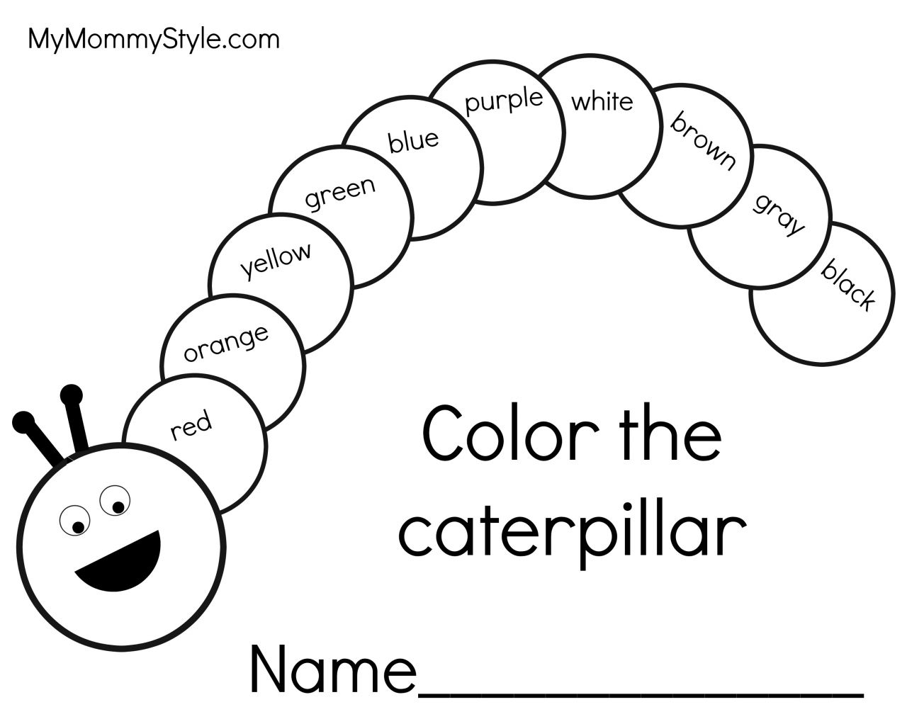 Very Hungry Caterpillar Writing Pages