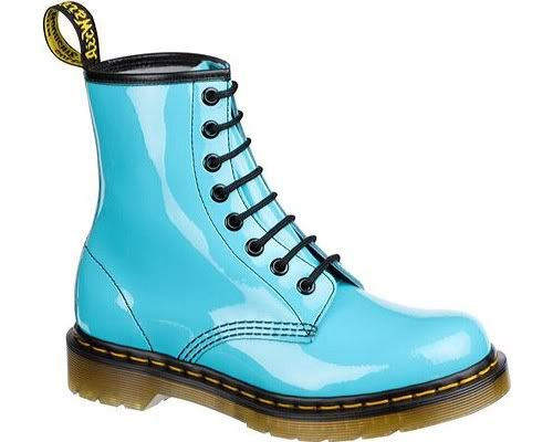 Dr Martens 1460 8 Eye Boot Patent Lamper Pastel Colors Nitrolicious Com Boots Lace Up Combat Boots Blue Doc Martens