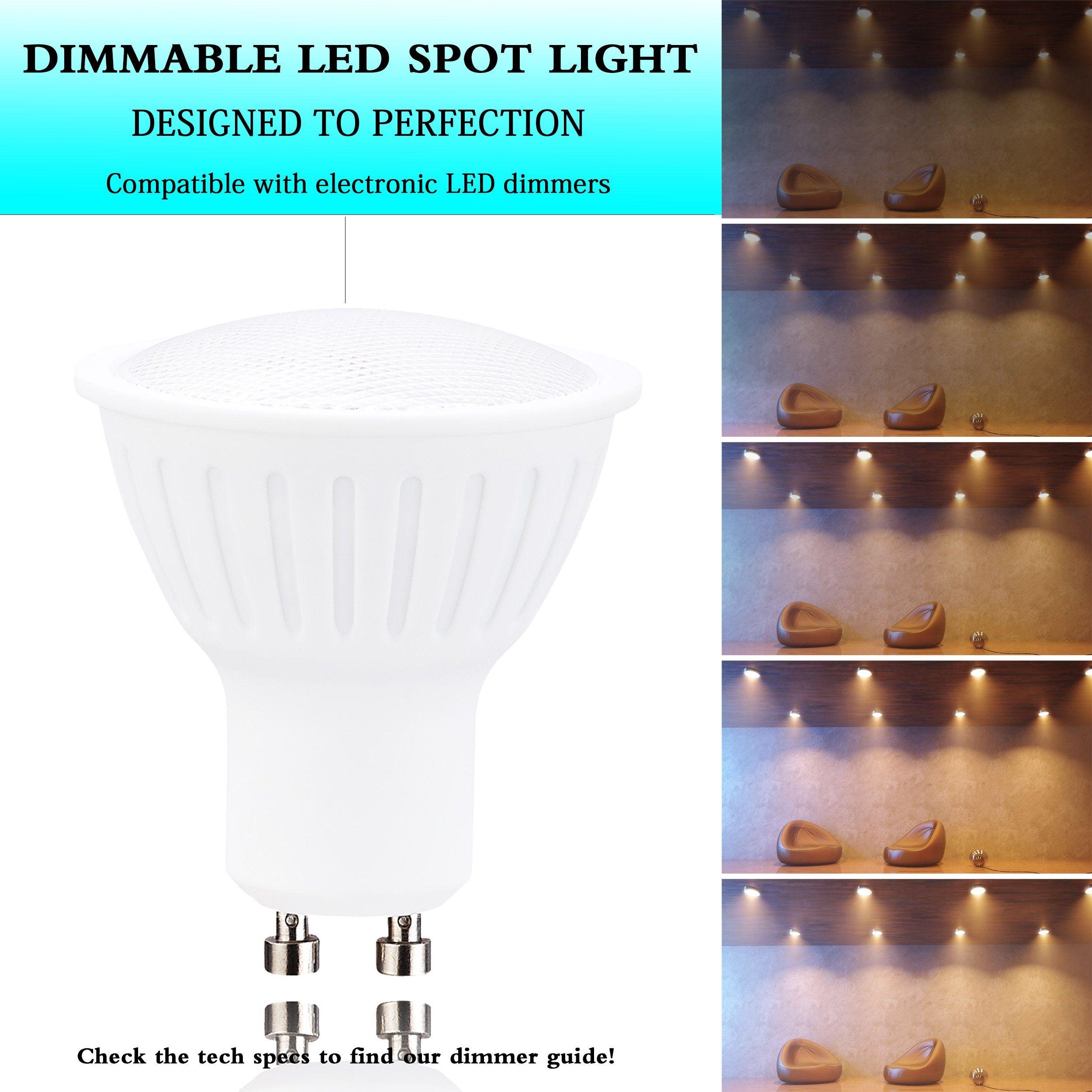 Gu10 Led Par16 Spot Light Warm White 3000k Dimmable25watt Halogen Equivalent3w Recessed Lights 300lumens 120a Beam Angl Recessed Lighting Spotlight Bulbs Bulb