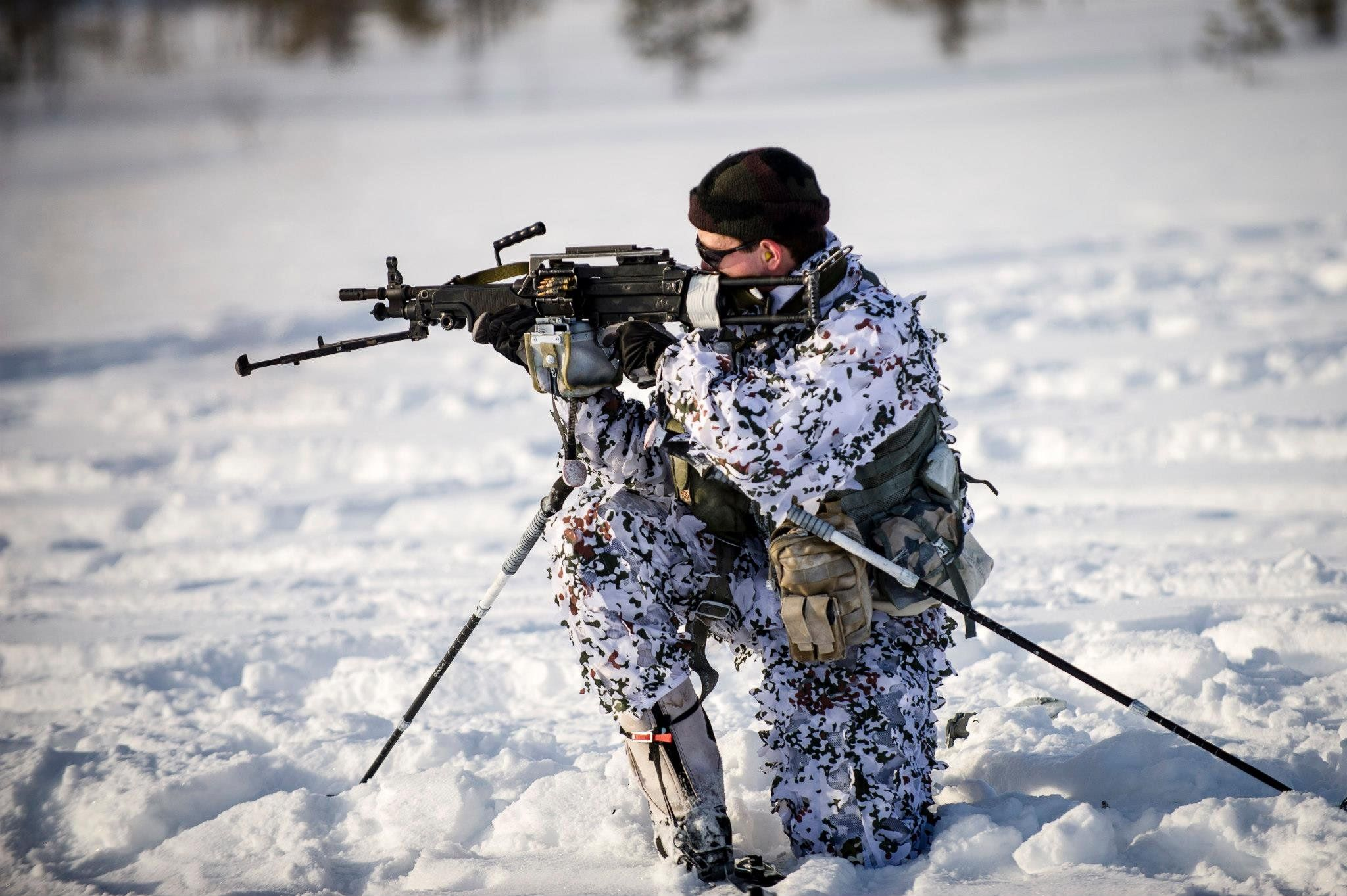 Dragoons in snow... 13RDP (French SOF) in Sweden