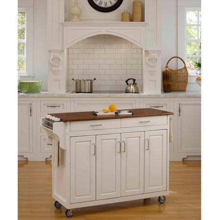 Home Styles Create-a-Cart, White with Oak Top - Walmart.com