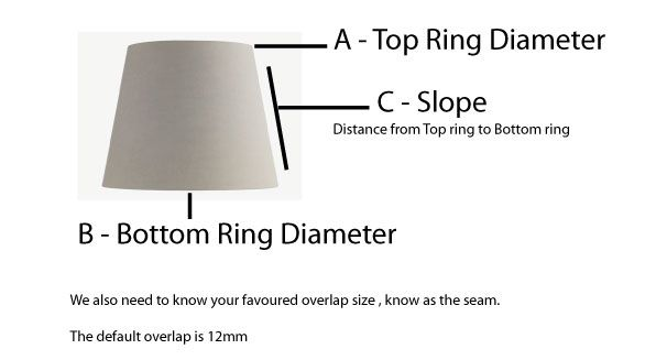 Lampshade Template Pattern 40cm Or Under Make A Lampshade Lamp Shades Make A Lamp