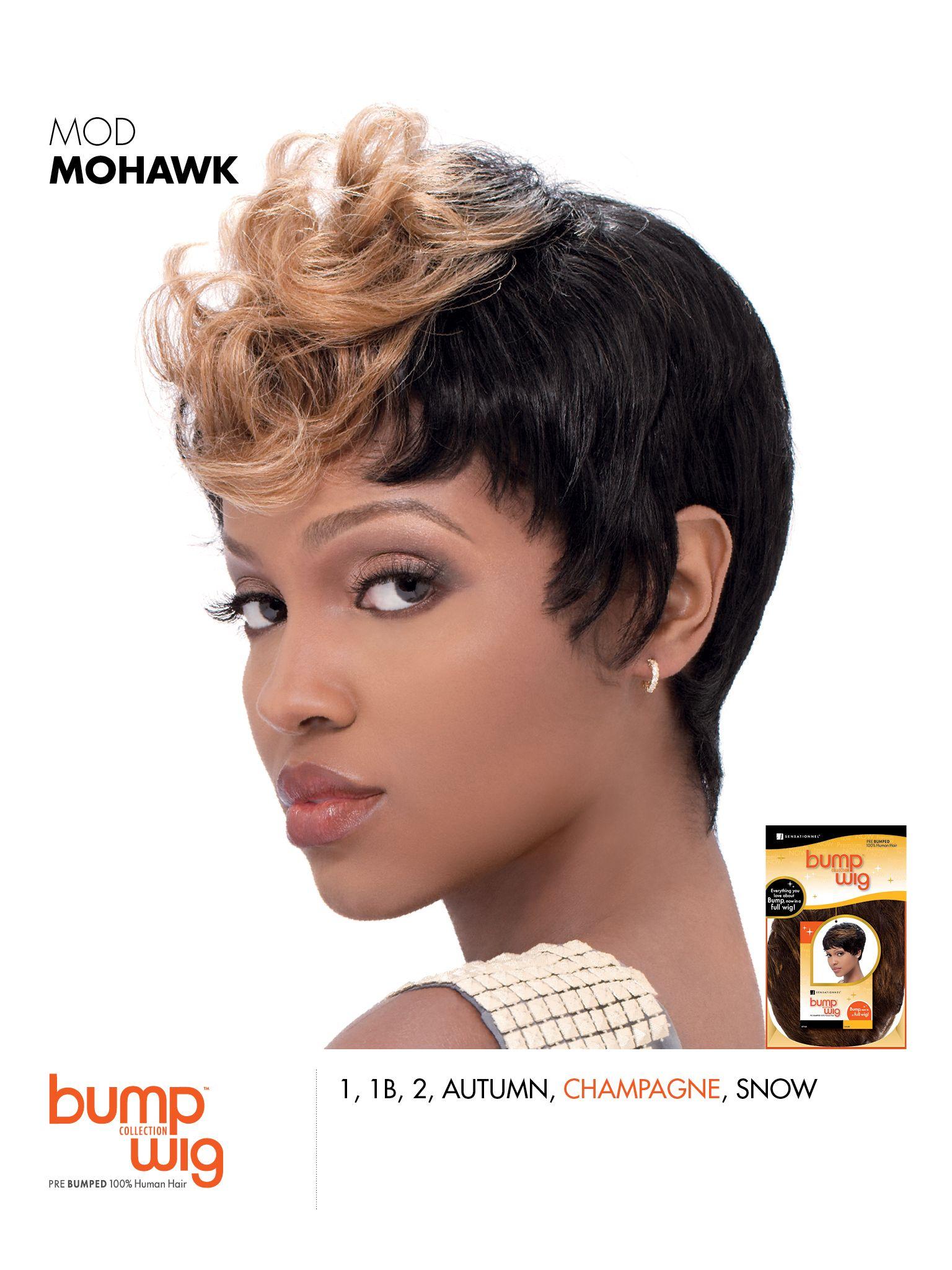 Mod Mohawk Pre Bumped 100 Human Hair Sensationnel Wig Bumpwig