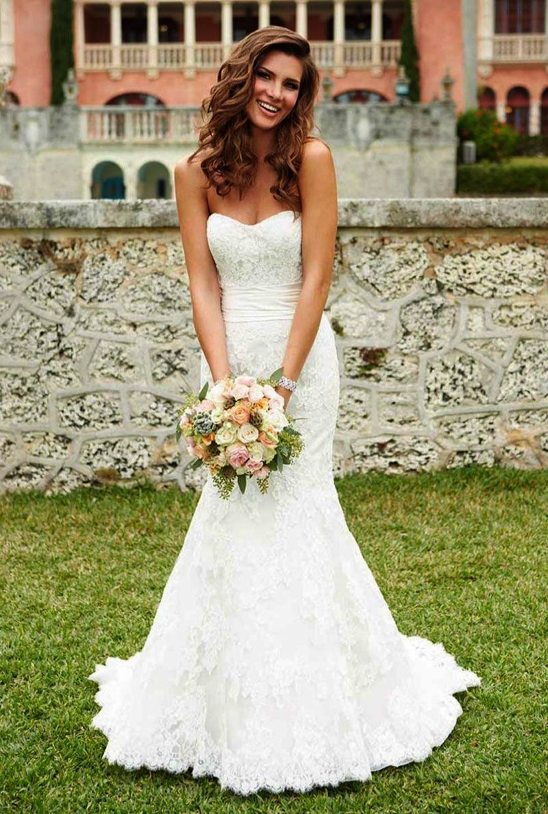 Lace wedding dresses plus size beading lace ball gown princess