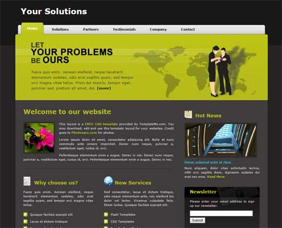 college website template, html website templates, website template ...