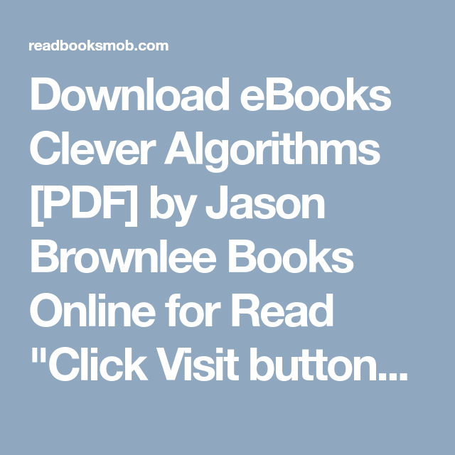 Download ebooks clever algorithms pdf by jason brownlee books download ebooks clever algorithms pdf by jason brownlee books online for read click fandeluxe Images