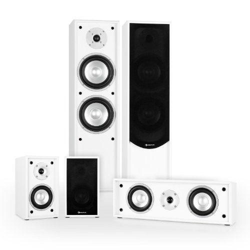 Deals week Auna Line 300-WH Home Theatre Cinema HiFi Speaker System ...