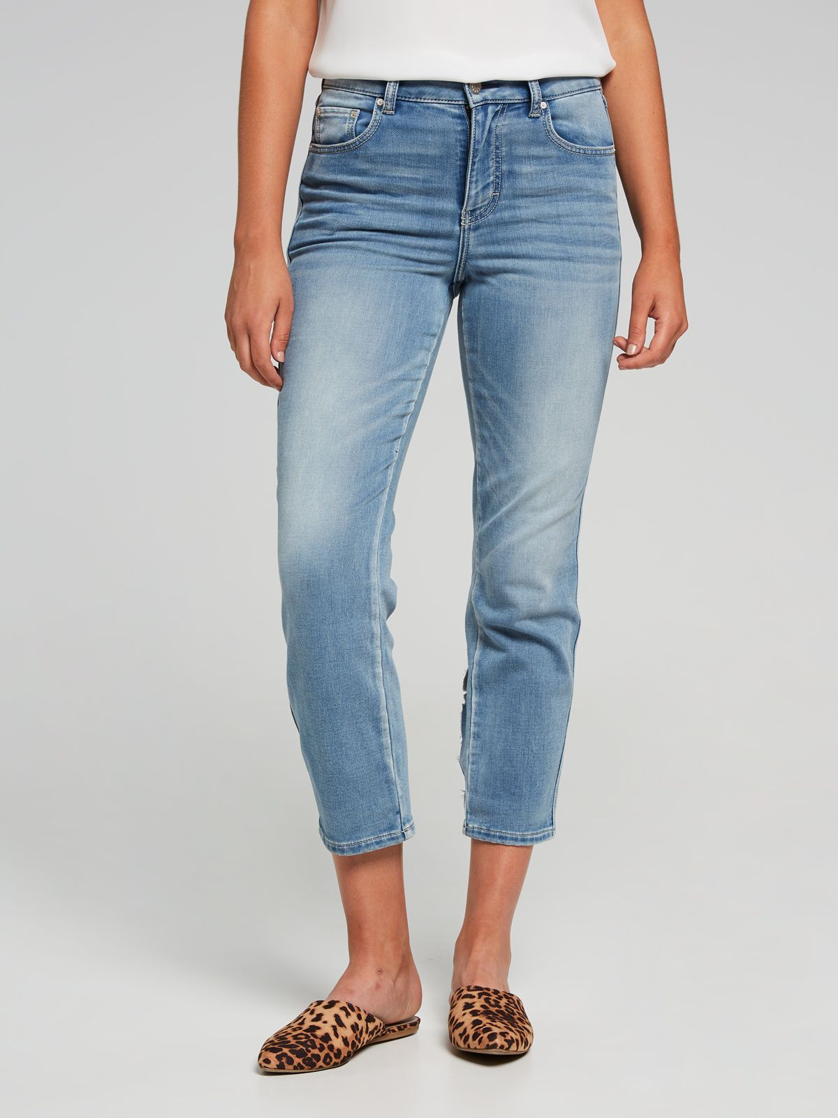 Amaze Slim Crop Jean Vintage Blue Just Jeans Online