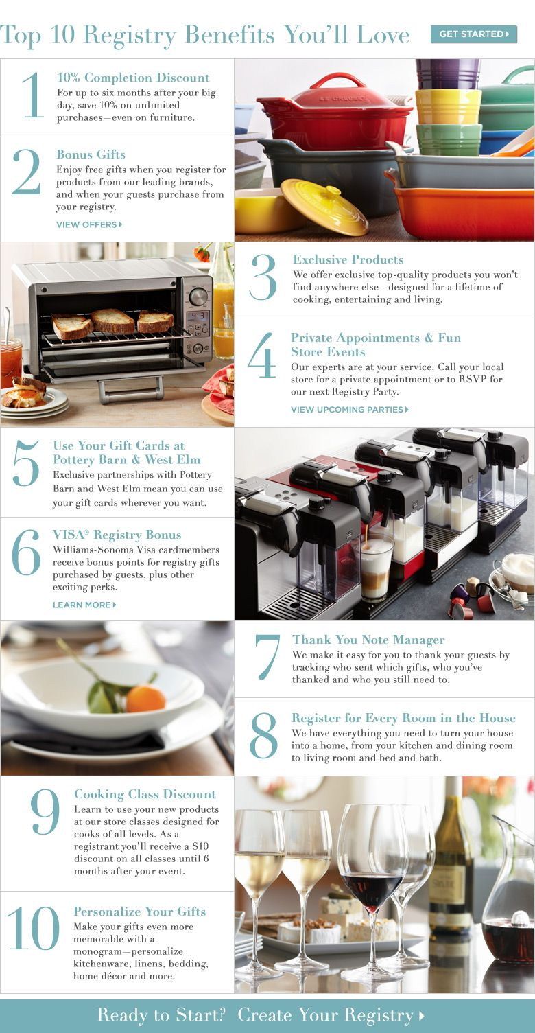 Top 10 Registry Benefits You'll Love william sonoma