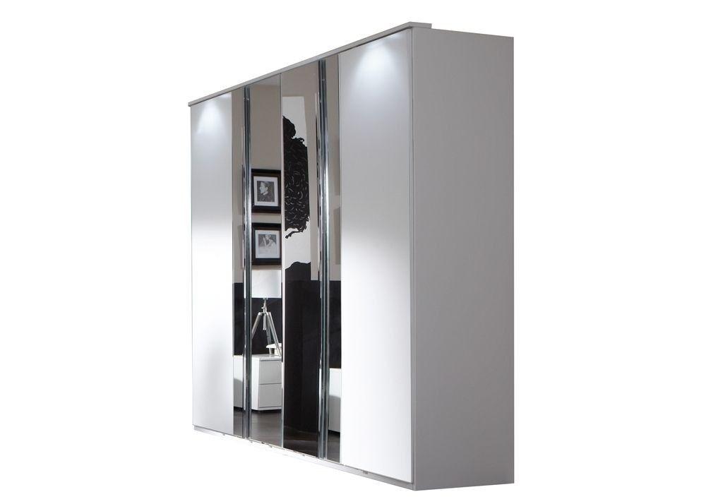 Drehtürenschrank 180 Davos 7123. Buy now at https://www.moebel-wohnbar.de/kleiderschrank-davos-schlafzimmerschrank-180-0-cm-weiss-spiegel-7123.html