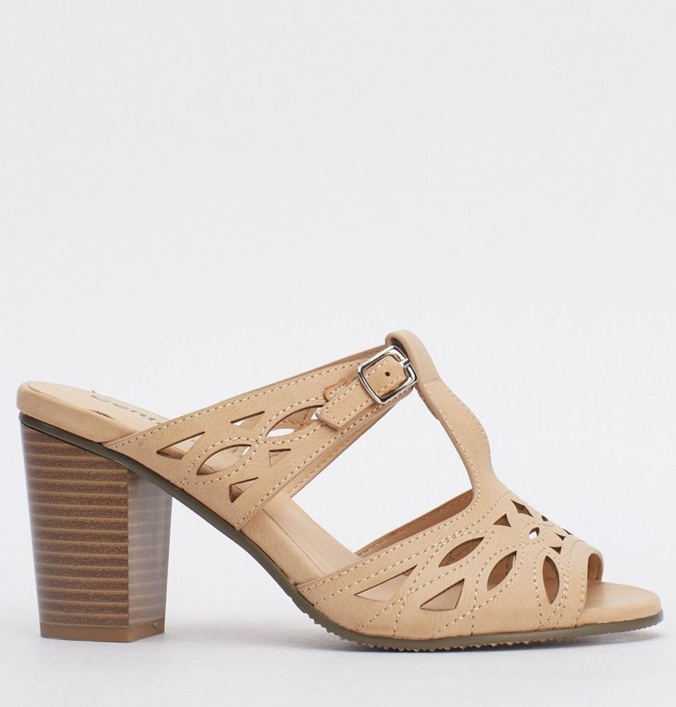 Block Colour Sling Back Shoe Size 5