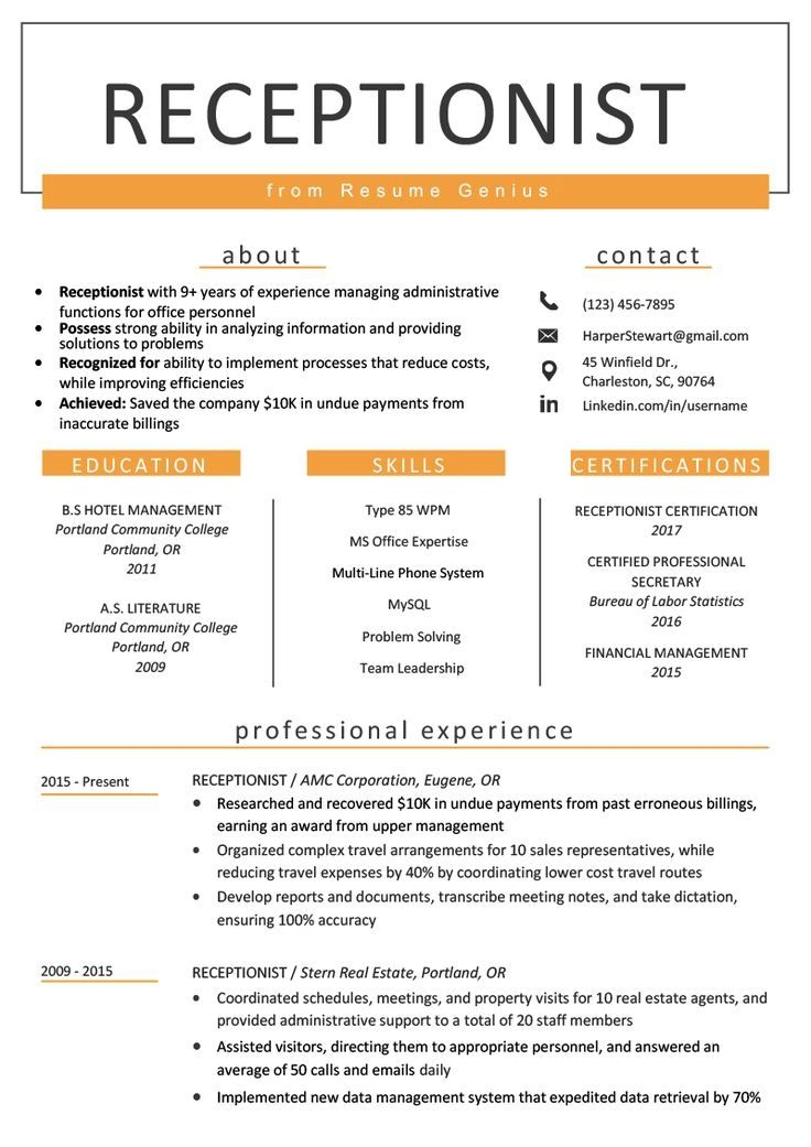 Pin by Ali Scovil on Office in 2020 Resume examples