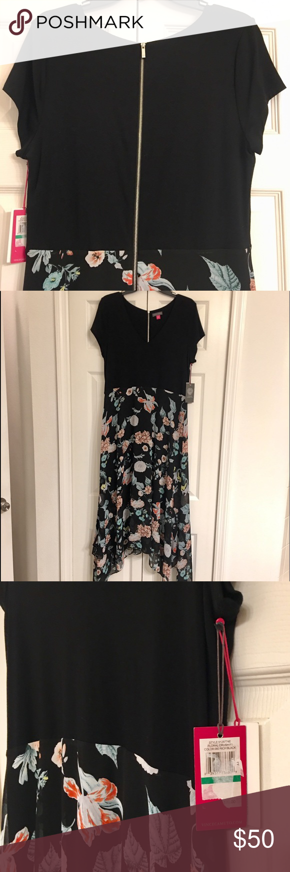 Vince Camuto Maxi Dress Size Large Nwt Beautiful Maxi Dresses Large Size Dresses Sheer Dress [ 1740 x 580 Pixel ]