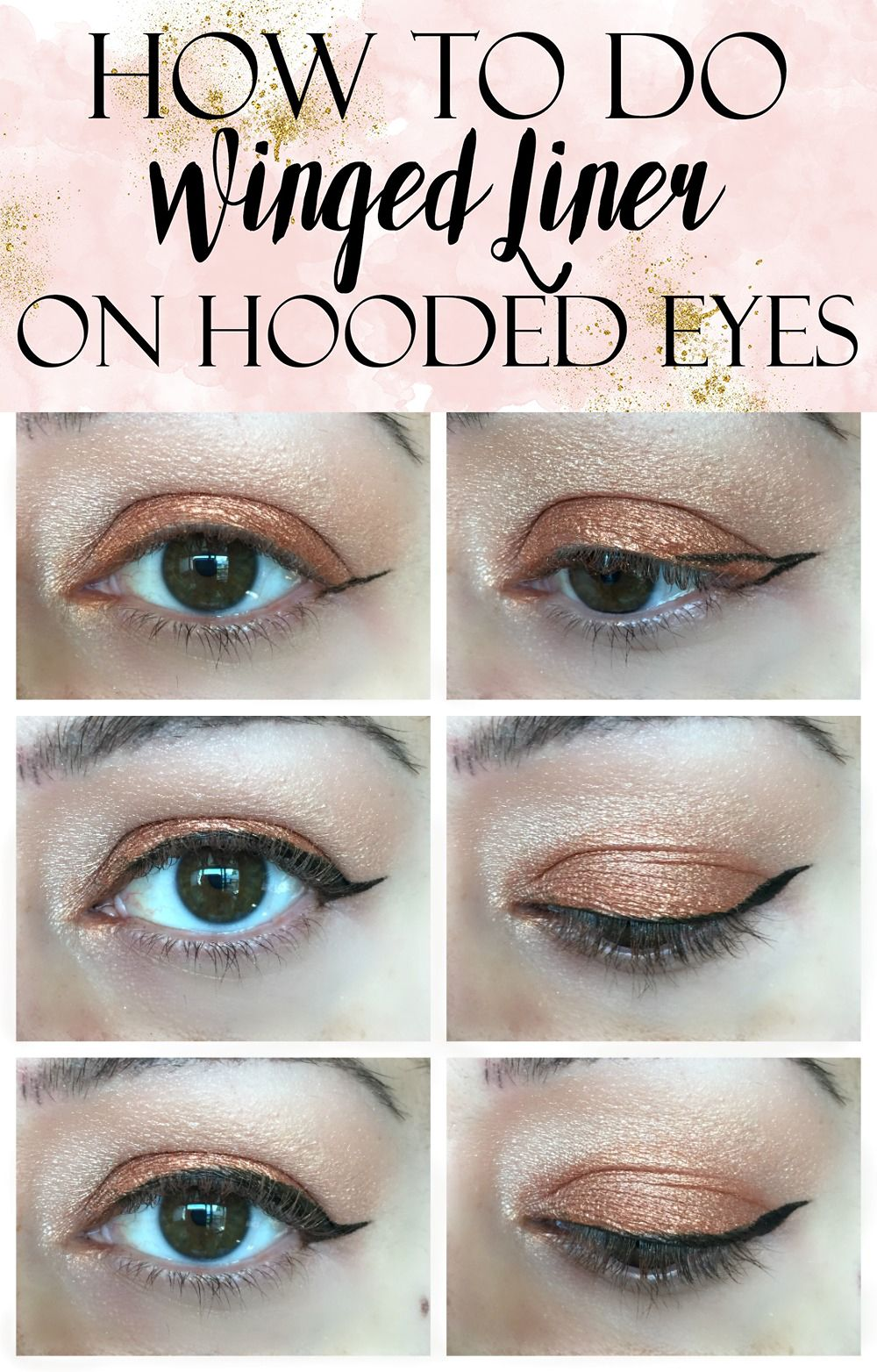 How to apply winged liner on hooded eyes tutorial hooded eyes easy winged eye liner tutorial for hooded eye lids baditri Image collections