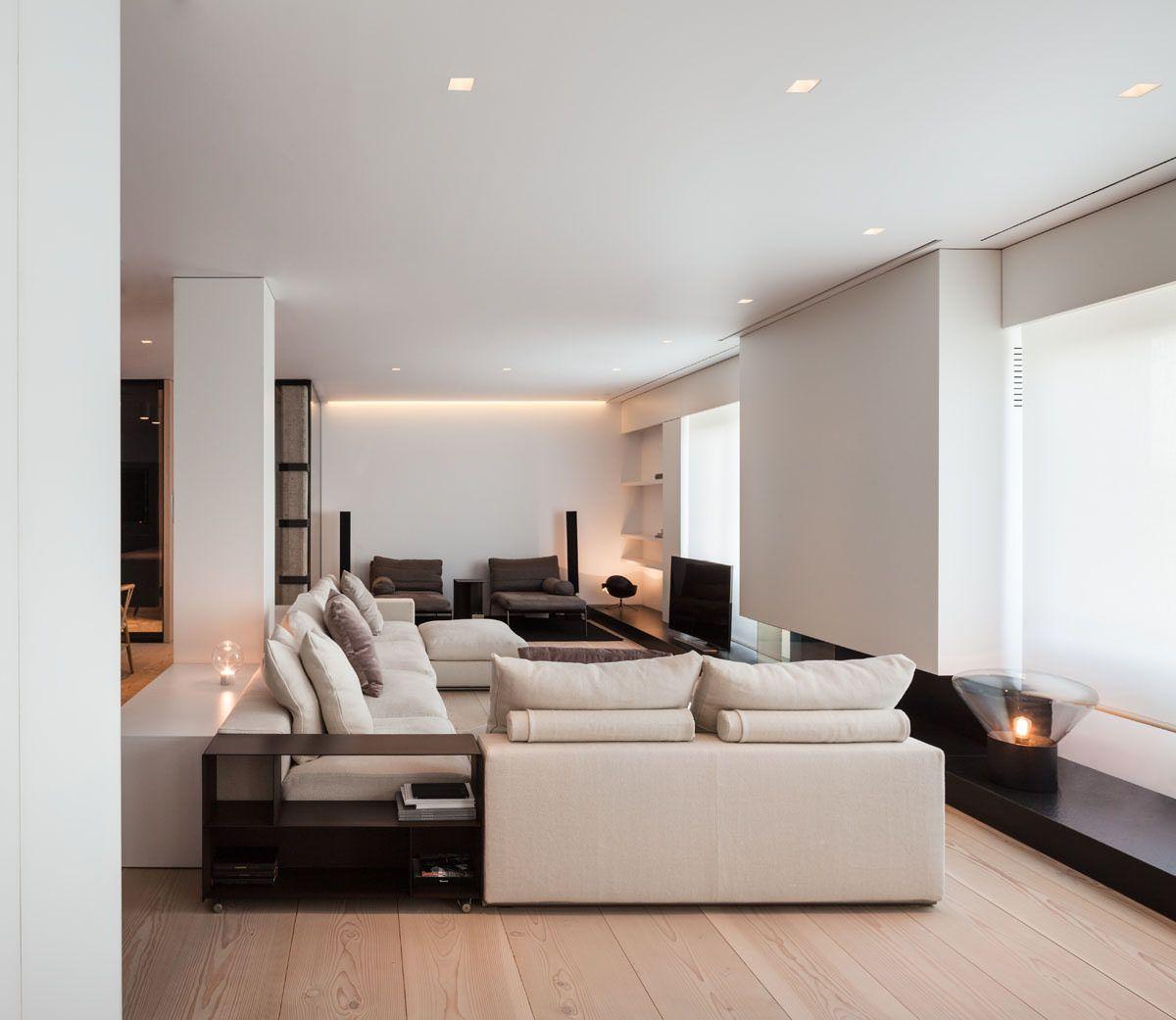 Parete Attrezzata Tortora E Bianco soggiorno arredamento legno e bianco