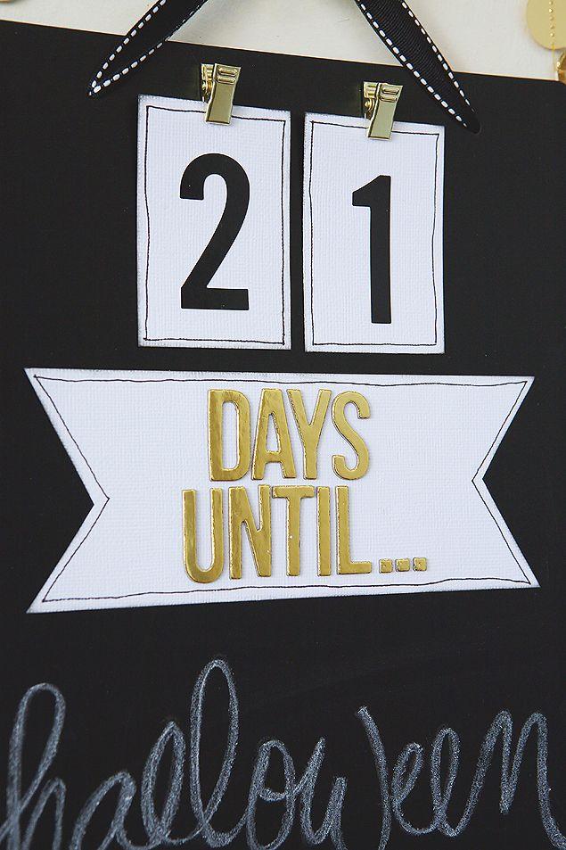 Create an easy Chalkboard Countdown Board to