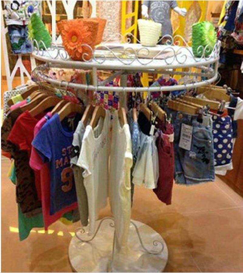 circular fashion hanging rail garment