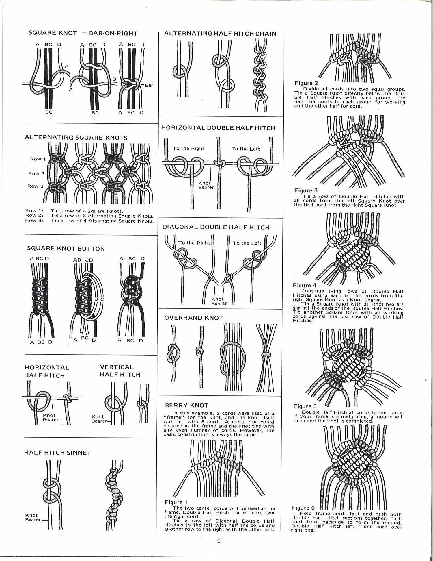 Easy Macrame \u2022 1970s Macram\u00e9 Pot Hangers \u2022 How To Instruction Pattern Book \u2022 70s Vintage Plant Hanger \u2022 Retro Book PDF