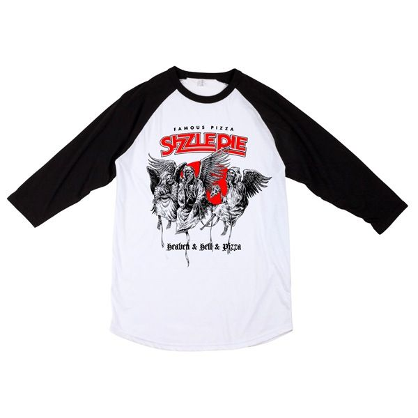 Image of HEAVEN HELL PIZZA RAGLAN SHIRT