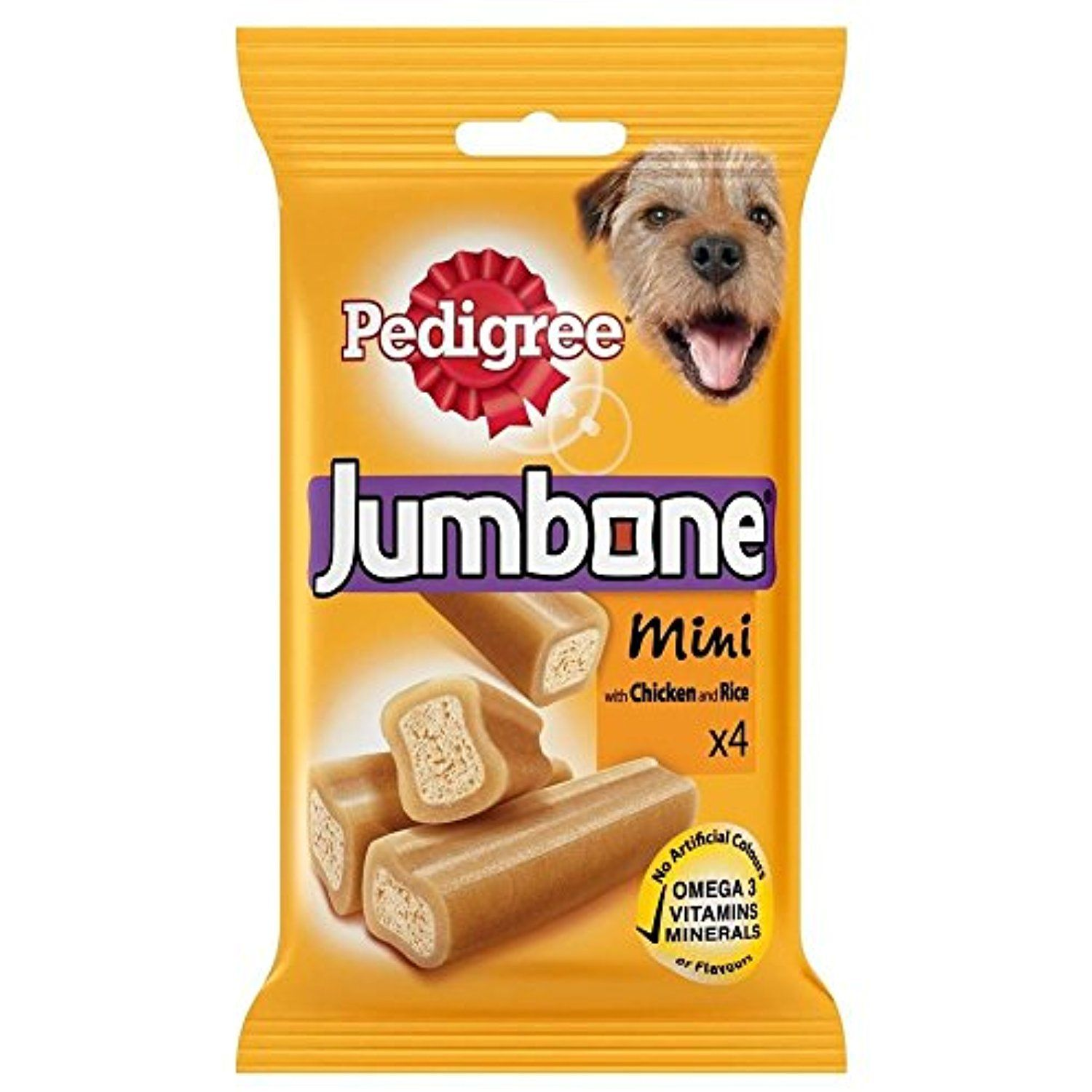 Pedigree Jumbone Mini Chicken Rice 4 Per Pack 180g To