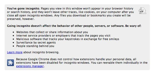 Use Incognito Mode For No Trace Browsing Simple Tricks Google Chrome Fact Quotes