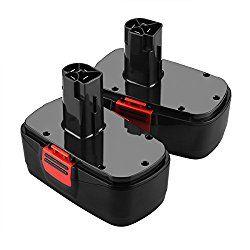 Energup 2 Pack 3 0ah 19 2v Craftsman Replacement Battery For Craftsman C3 130279005 11375 11376 11045 1323903 315 115410 315 11485 315 114850 315 114852 Battery Pack Battery Power Tool Batteries