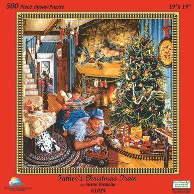 Fathers Christmas Train 500 pc Puzzle Christmas Pinterest