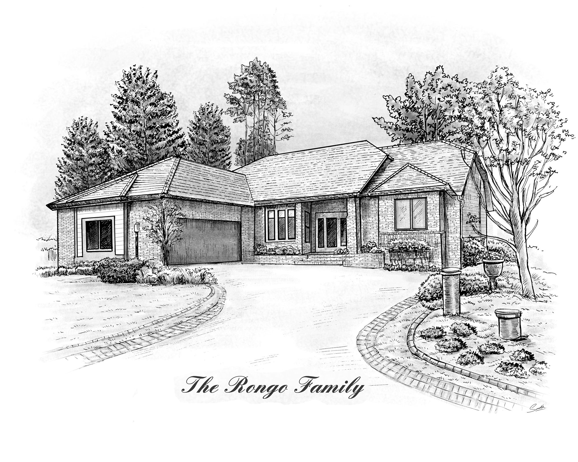 House Sketches custom pen & ink house sketches | house sketch