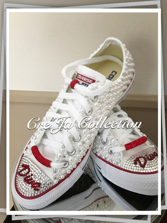 d9e495ff3806 💎 New  These beauties are the custom pearl and bling converse that are  similar