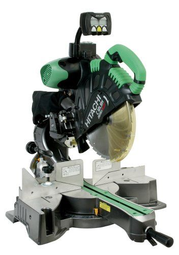 Hitachi C12lsh Hitachi C12lsh 15 Amp 12 Inch Dual Bevel Sliding Compound Miter Saw With Laser Sliding Compound Miter Saw Compound Mitre Saw Miter Saw Reviews