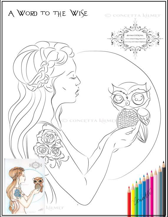 Girls And Beasts Coloring Book By Enchantedezignstudio