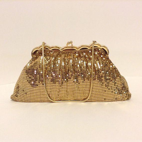 Whiting Davis 2924 Brass Mesh Evening Bag Usa Made Slinky Gold Tone Metal Handbag Hagman S Of St Armands Sarasota Fl Fashion Purse