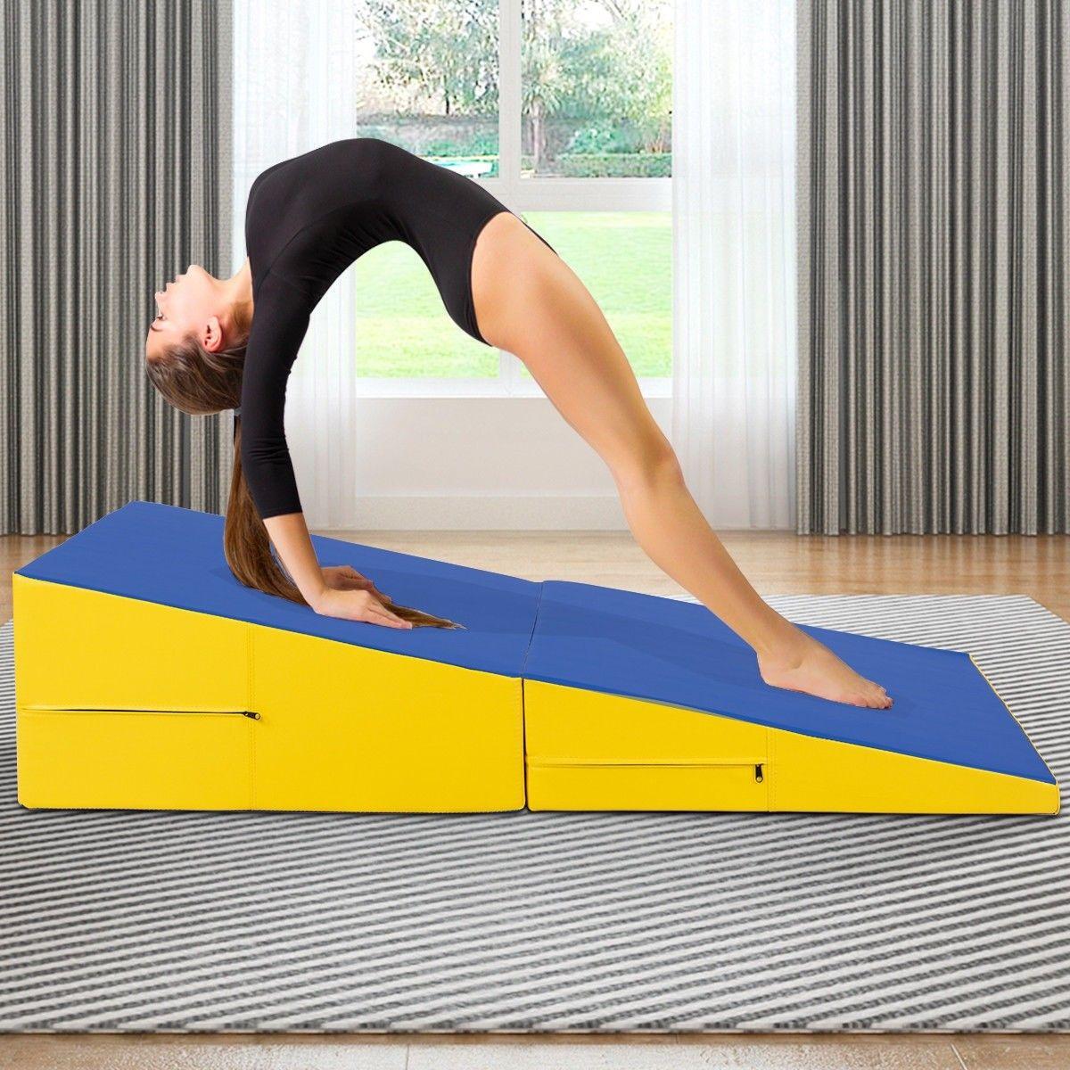 Folding Incline Mat Slope Cheese Gymnastics Gym Exercise Gymnastics Gym Gym Workouts Gymnastics